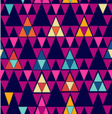 Trendy vintage hipster geometric seamless pattern.