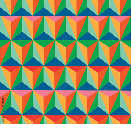 Trendy retro hipster geometric seamless pattern.