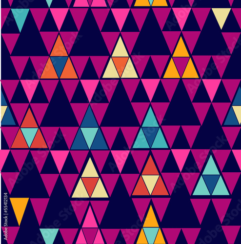 Papiers peints ZigZag Trendy vintage hipster geometric seamless pattern.