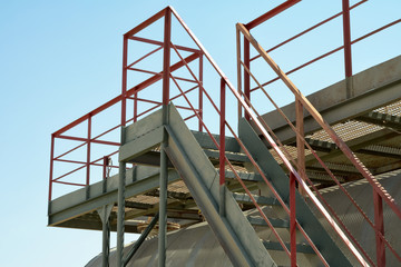 Industrial stairs.