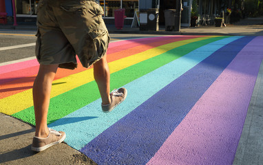 Crosswalk Colors, Gay Pride, Vancouver