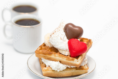 Waffles and coffee