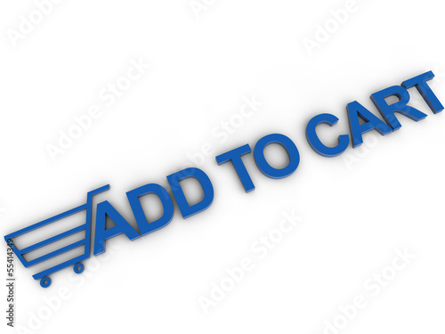 add to cart with card symbol over white background