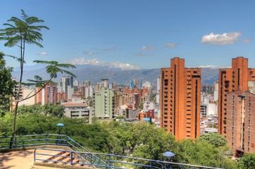 Bucaramanga Colombia Skyline as seen from El Prado district