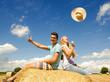 Glück, Freude: Junge Menschen gut gelaunt im Sommer