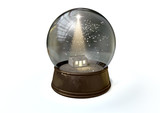 Snow Globe Nativity Scene White