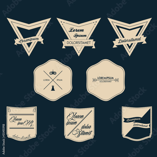 Vintage Logo Vector Set