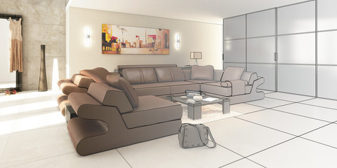 Luxury Apartment (drawing)