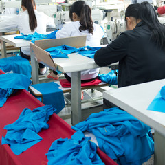 Industrial size textile factory