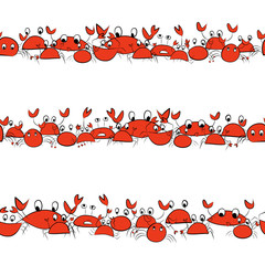 Funny crabs, seamless pattern for your design