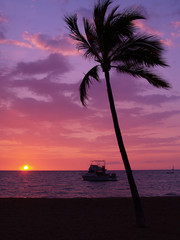 ハワイ島 ワイコロアの夕陽