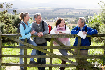 Group Of Friends On Country Walk