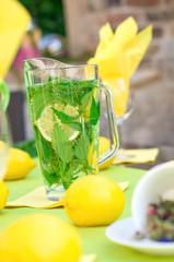 Zitronen mit Brennesselwasser