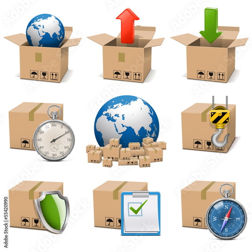 Vector Shipment Icons Set 9