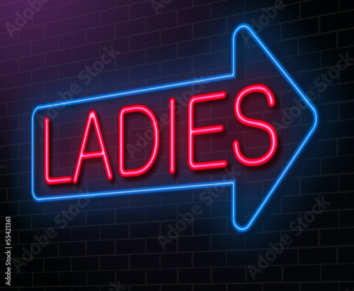 Ladies neon sign.