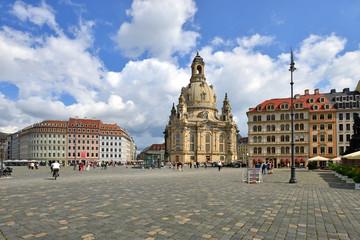 Marktplatz, Frauenkirche in Dresden