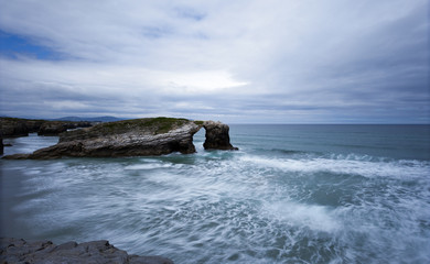 """Playa """" As Catedrais"""" Ribadeo. Lugo"""