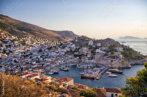 The picturesque village of Hydra island, Greece