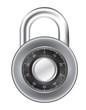 Realistic Padlock Illustration. Closed lock security icon