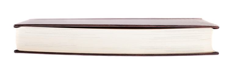 hardcover book closed on a white background