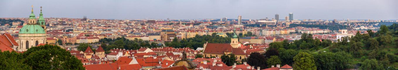 Panorama of Prague from Hradcany - Czech Republic