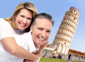 Senior couple in Italy.