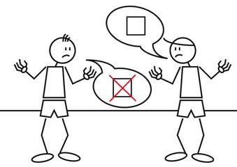 Stick figures controversy