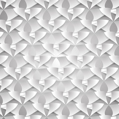 узор из кусков бумаги на сером фоне