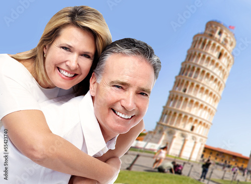 Senior couple in Italy.