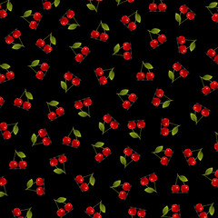 Background with cherry arranged randomly