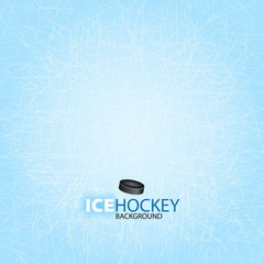 Ice Hockey background - Vector illustration