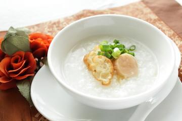貝柱と油条の中華粥