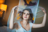 portrait of a beautiful bride with bridal veil