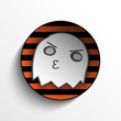 Vector - Halloween Ghost Button Icon Stripe Vector