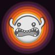 Vector - Halloween Ghost Circle Stripe Background Vector