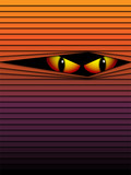 Halloween Background Scary Eyes Orange Vector