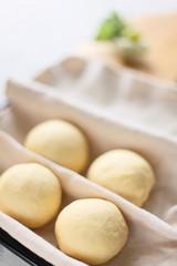 手作りパンの発酵