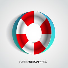 Paper rescue ring or wheel