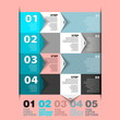 Modern Design template - numbered banners - Infographics