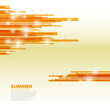 Orange horizontal abstract lines background - Summer theme