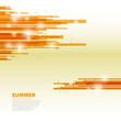 Orange horizontal abstract lines background - Summer theme