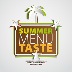 Summer menu taste theme