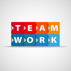 Team work concept square concept - vector illustration