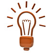 Orange light bulb icon