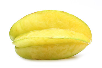 Carambola isolated on white