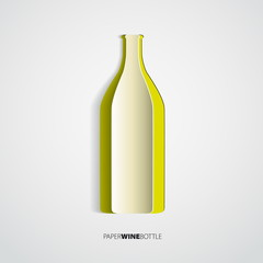 Wine bottles from paper - vector illustration