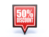discount pointer icon on white background
