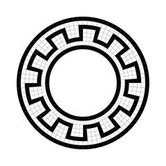 Greek national antique round pattern, vector.