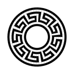 Greek national antique round pattern, vector.