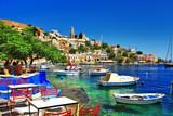 Greek holidays. Symi island - 55428715